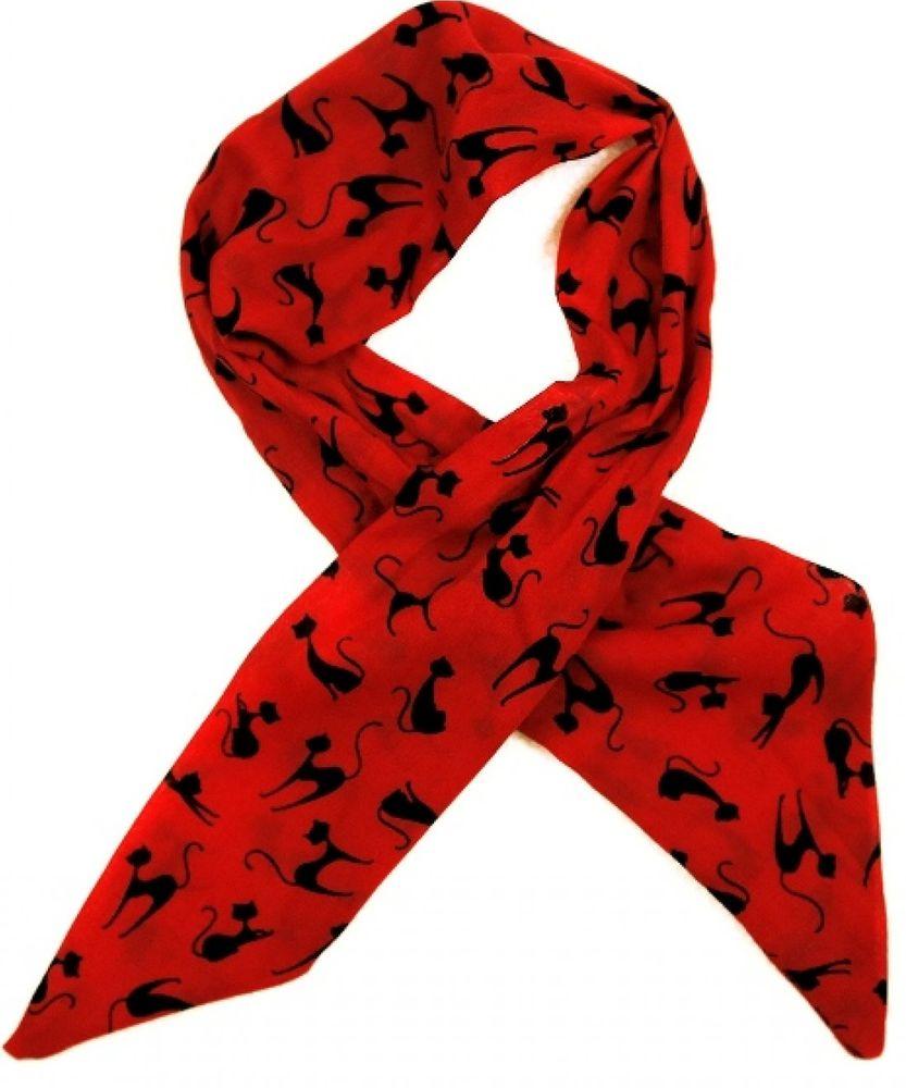 Alber Zoran dámský červený šátek Meow