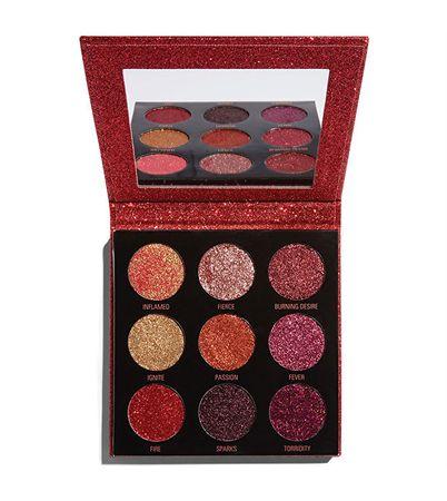 Makeup Revolution Zářící paletky třpytek (Pressed Glitter Palette) 9 x 1,2 g (Odstín Hot Pursuit)