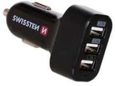 SWISSTEN CL adapter 3× USB 5,2 A Power 20111200