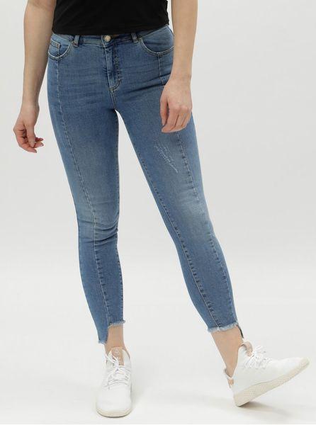 56af02af430 Miss Selfridge modré super skinny džíny s vysokým pasem M