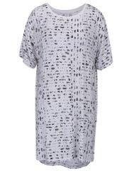 DKNY bílá vzorovaná noční košile s nepravidelným hadím vzorem