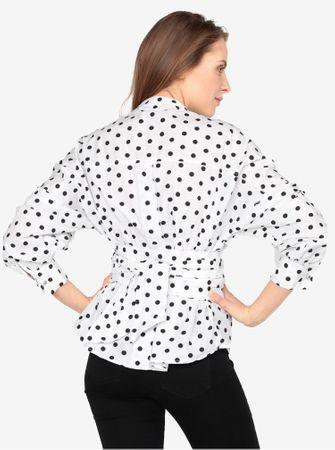 Vero Moda bílá halenka s puntíky a zavazováním Loka XL - Diskuze ... 6e493d6d1f