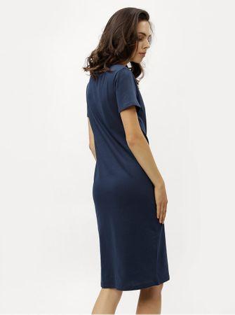 c6f1e26d5726 ZOOT tmavě modré pouzdrové šaty s krátkým rukávem M - Parametry ...