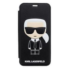 Karl Lagerfeld Ikonik Book Case Black pro iPhone X KLFLBKPXIKPUBK