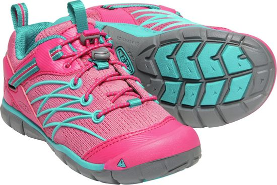 KEEN dekliški čevlji za prosti čas Chandler Cnx Jr. Bright Pink/Lake Green