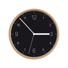 Tescoma Nástěnné hodiny FANCY HOME, dřevo, černý ciferník