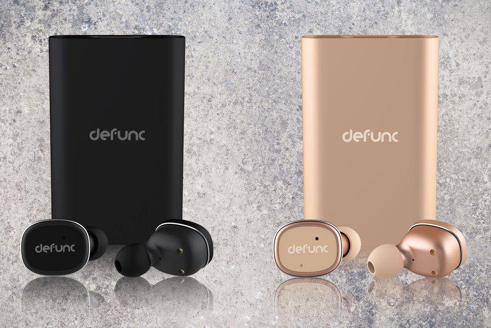 Defunc TRUE Bluetooth bezdrátová sluchátka, zlatá
