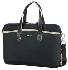 "Samsonite Nefti Bailhandle 15.6"" Black/Sand CA8*92002"