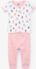 Hatley lány nyári pizsama 62 fehér/rózsaszín