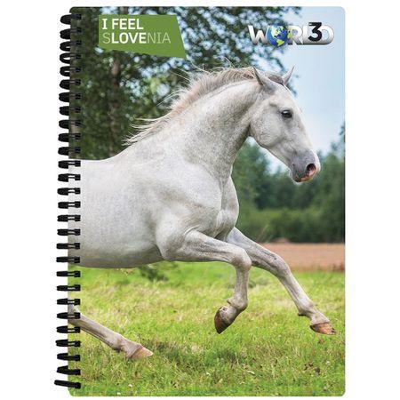 World 3D notebook A5 80L – lipicanec, spirala