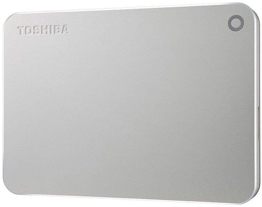 TOSHIBA Canvio Premium - 2TB, metalicky stříbrná (HDTW220ES3AA)