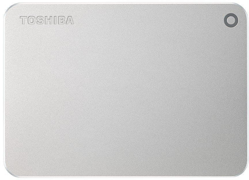 TOSHIBA Canvio Premium - 1TB, metalicky stříbrná (HDTW210ES3AA)