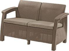 Allibert sofa ogrodowa CORFU LOVE SEAT cappucino