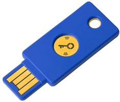 Yubico USB varnostni ključ YubiKey FIDO2 U2F, USB-A, NFC, moder