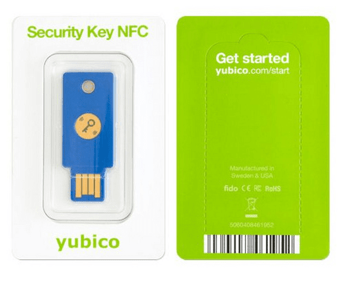 Yubico USB sigurnosni ključ YubiKey FIDO2 U2F, USB-A, NFC, plavi