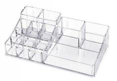 Compactor organizator za nakit in kozmetiko, 14 predelkov, prozorna plastika