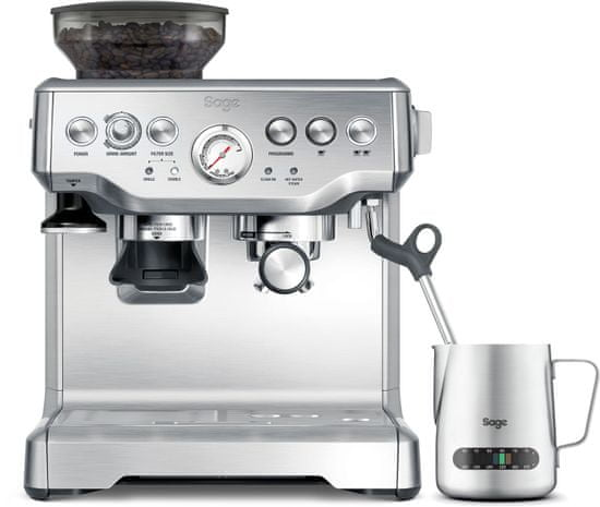 SAGE pákový kávovar BES875BSS - zánovní