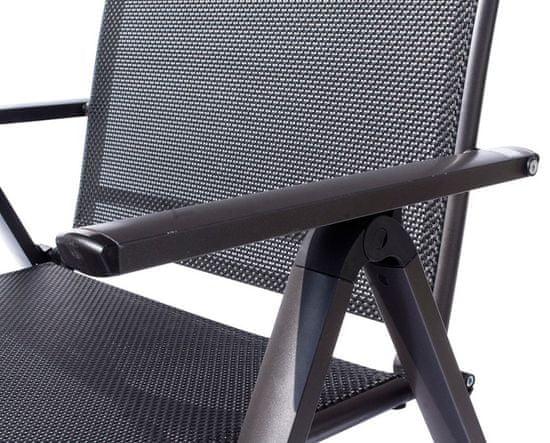 Rojaplast LONDON Kerti szék, Antracit/Fekete