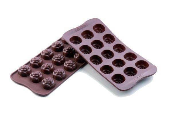 Silikomart forma na čokoládu Růže