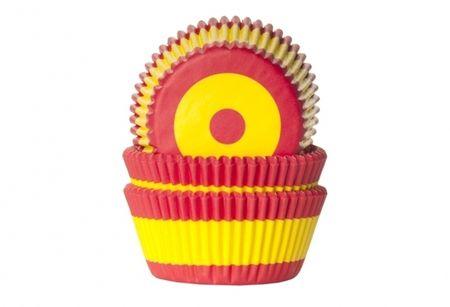 Košíček na muffiny vlajka Španělsko 50ks