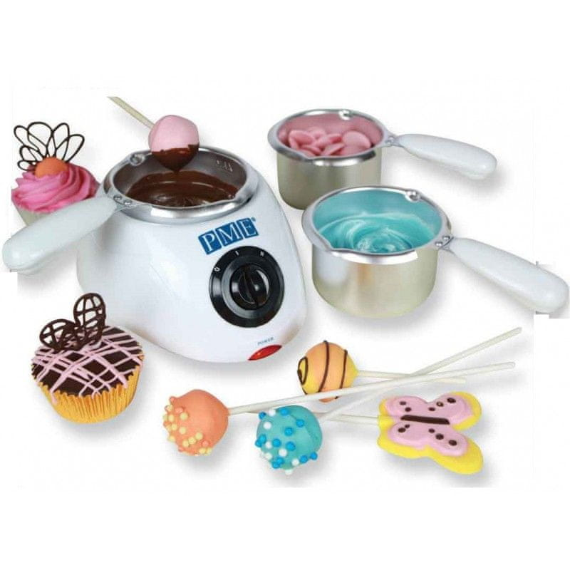 PME Temperovací stroj na čokoládu a 3 misky