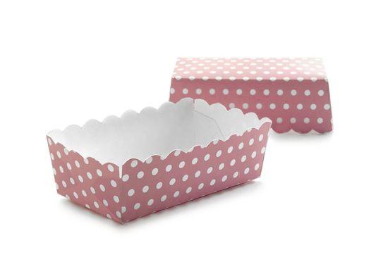 Ibili Papierová škatuľka ružová 12ks