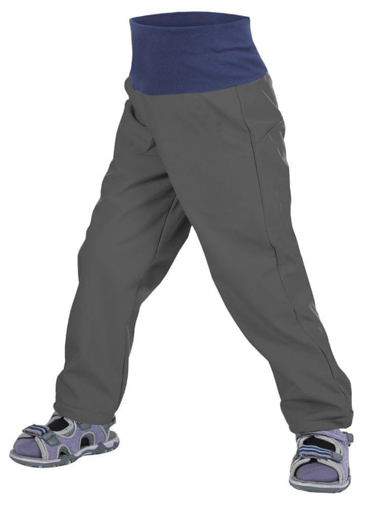 Unuo batolecí softshellové kalhoty bez zateplení 80 - 86 šedá