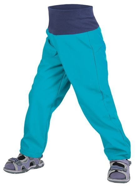Unuo chlapecké softshellové kalhoty bez zateplení 74 - 80 modrá