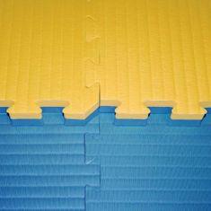 Katsudo Tatami judo puzzle 4 cm - žluto/modré