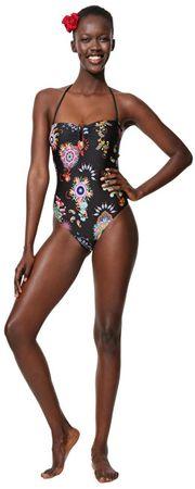 Desigual Jednoczęściowy kostium kąpielowy Biki Joanna Negro 19SWMK02 2000 (rozmiar S)