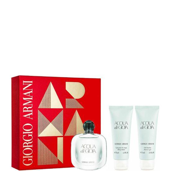 Armani set Acqua Di Gioia parfumska voda + losjon za telo + gel za prhanje
