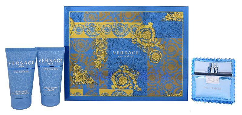 Versace Men Eau Fraiche EdT 50 ml + sprchový gel 50 ml + balzám po holení 50 ml dárková sada