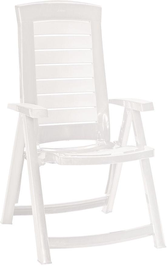 Allibert ARUBA zahradní židle polohovací, bílá