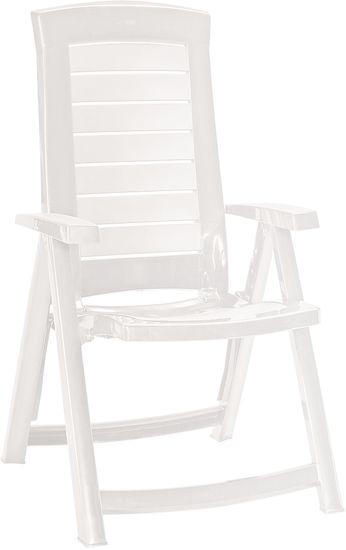 Allibert ARUBA állítható kerti szék, fehér