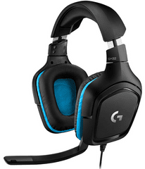Logitech G432 gaming slušalke z mikrofonom, 7.1