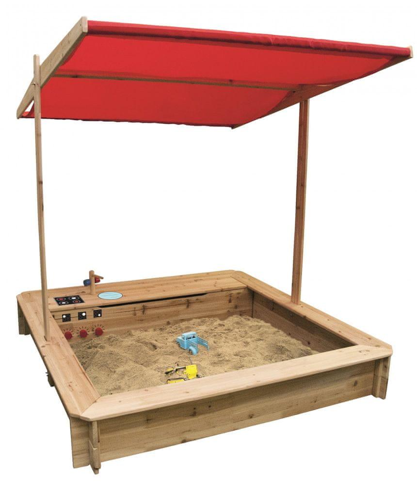 Woody Dřevěné pískoviště s kuchyňkou