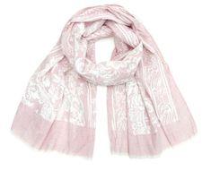 Art of Polo Női pamut sál - rózsaszín virágok sz16221.1