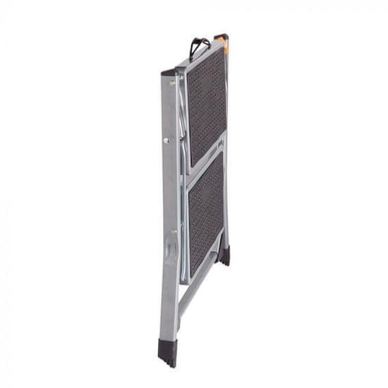 VonHaus zložljiva 2-polična jeklena lestev (3500097)