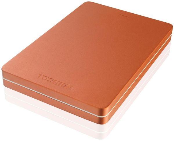Toshiba Canvio Alu - 500gb, Metalická Červená Hdth305Er3Ab