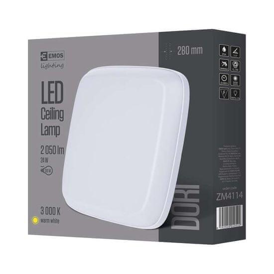 Emos LED přisazené svítidlo Dori, čtverec 24W