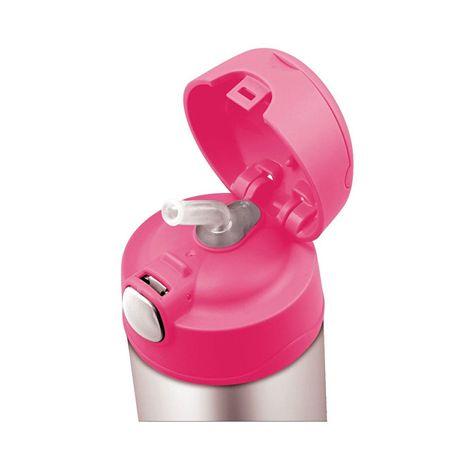Thermos FUNtainer Detská termoska so slamkou - ružová 470 ml  7a068fedb12