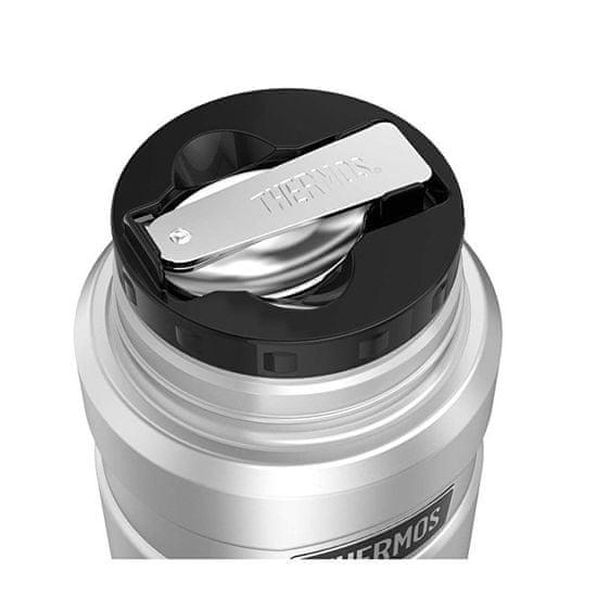 Thermos Style Termoska na jídlo se skládací lžící a šálkem - nerez 470 ml