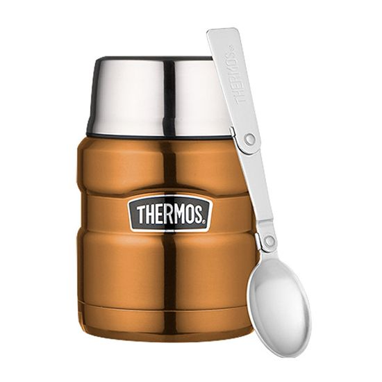 Thermos Termos do żywności Style ze składaną łyżką i filiżanką - miedź 470 ml