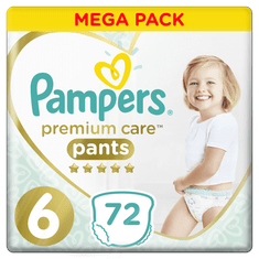 Pampers Premium Pants Mega Box S6 72ks