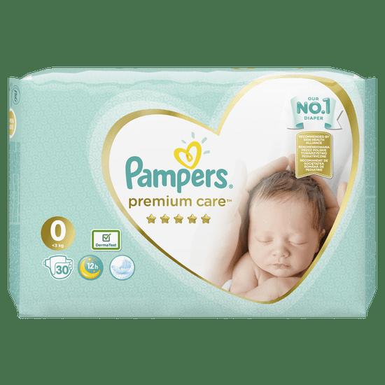 Pampers pelene Premium Care 0 Newborn, 30 kom