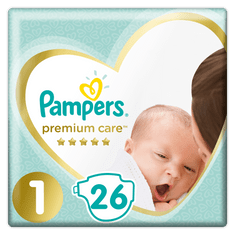 Pampers Pleny PremiumCare 1 Newborn - 2-5 kg, 26 ks