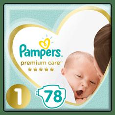 Pampers plenice Premium Care Newborn 1, 78 kosov