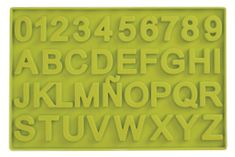 Ibili Silikonová forma na čokoládu čísla a písmena
