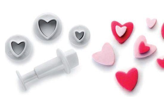 Ibili Ozdobovacia súprava srdce set – 3ks