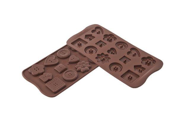 Silikomart Silikonová forma na čokoládu – knoflíčky